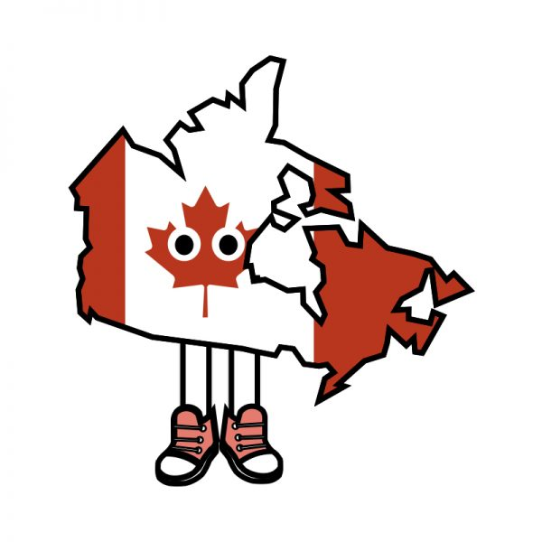 Canada with Shoes Pin