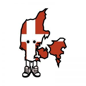 Denmark with Shoes Pin