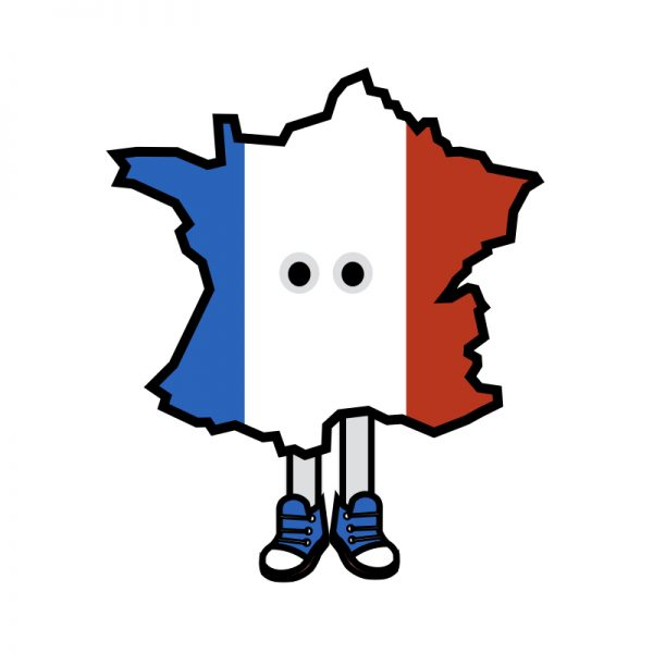 France with Shoes Pin