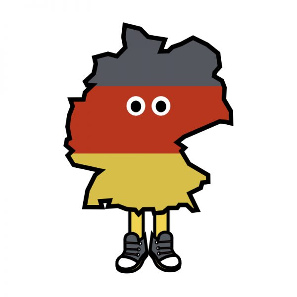 Germany with Shoes Pin
