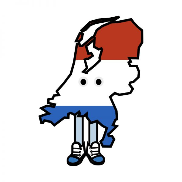 Netherlands with Shoes Pin