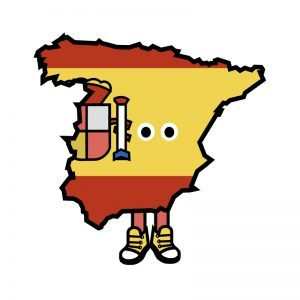 Spain with Shoes Pin