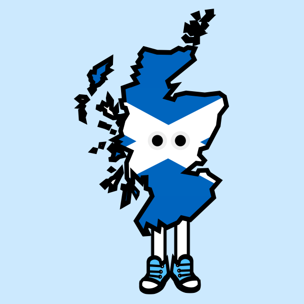 Scotland with Shoes Pin (Pre-Order)