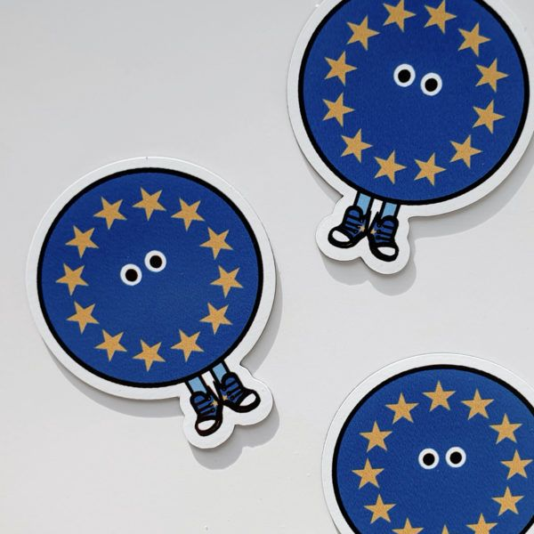 EU with Shoes Magnet