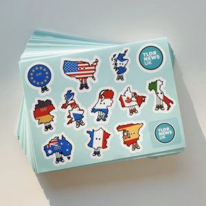 Countries with Shoes Sticker Set