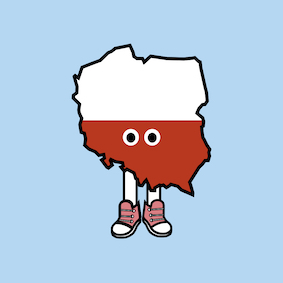 PRE-ORDER: Poland with Shoes Pin