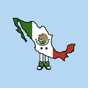 PRE-ORDER: Mexico with Shoes Pin