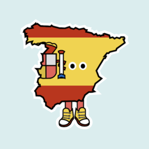 Spain with Shoes Magnet