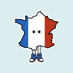 France with Shoes Magnet