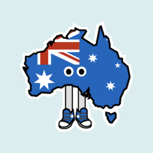 Australia with Shoes Magnet
