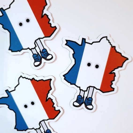 France with Shoes Magnet 2