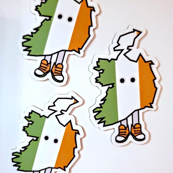 Ireland with Shoes Magnet 1