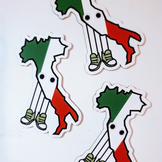 Italy with Shoes Magnet 1