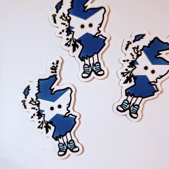Scotland with Shoes Magnet 1