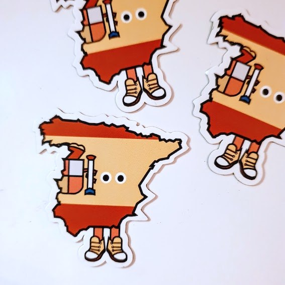 Spain with Shoes Magnet 1