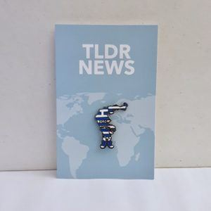 Greece with Shoes Pin