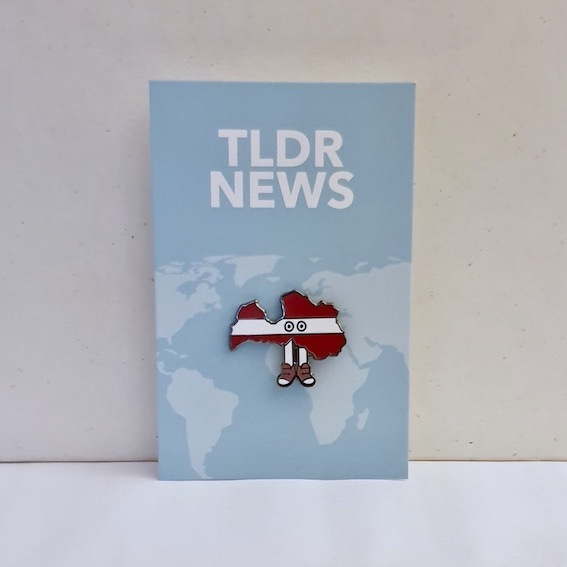 Latvia with Shoes Pin