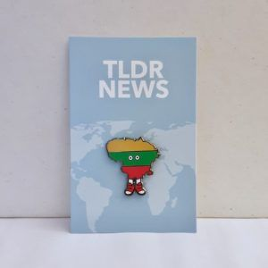 Lithuania with Shoes Pin