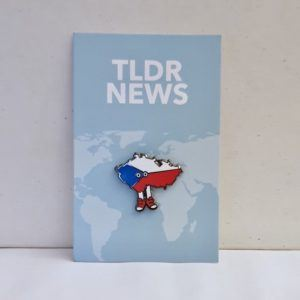 Czech Republic with Shoes Pin