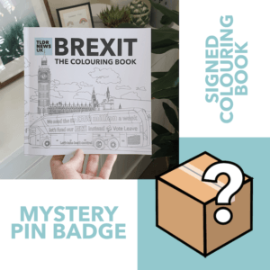 Brexit: The Colouring Book (SIGNED) & A Mystery Pin Badge