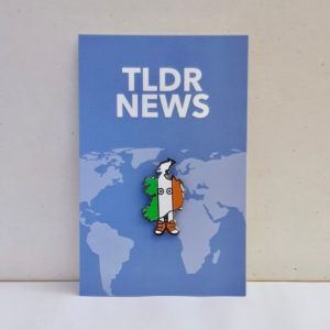 Ireland with Shoes Pin