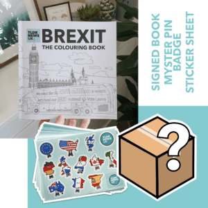 Brexit: The Colouring Book (SIGNED), Mystery Pin Badge & Sticker Sheet