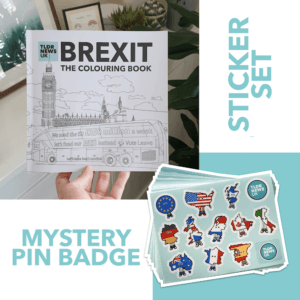 Brexit: The Colouring Book (SIGNED) & Sticker Sheet