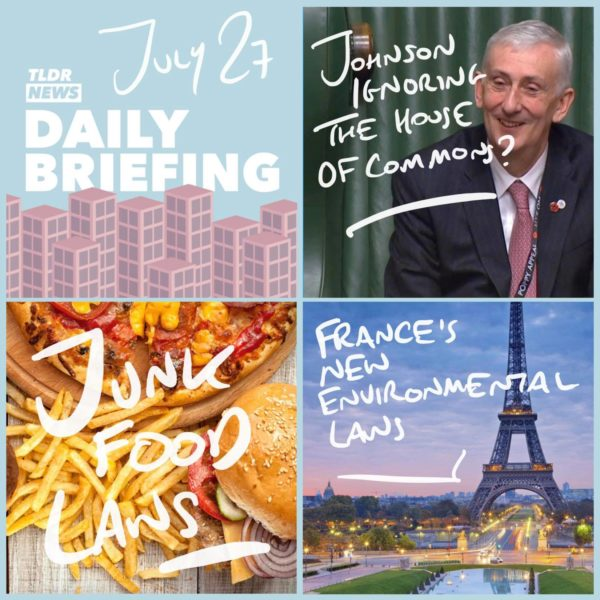 July 27th: Some Good News, Downing Street Briefings and the Prime Minister's Obesity Plan