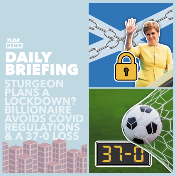 September 18th: A 37-0 Defeat, Sturgeon's Weekend Plans and an Exemption to Isolation 3