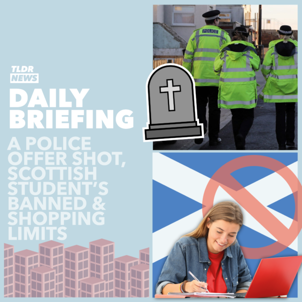 September 25th: A Police Officer Shot Dead, Scottish Students' Pub Ban and Limited Items at Shops 3