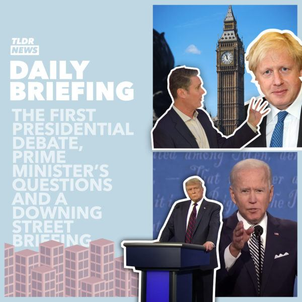 September 30th: The First Presidential Debate, Prime Minister's Questions and Coventry Contravening Covid Crackdown