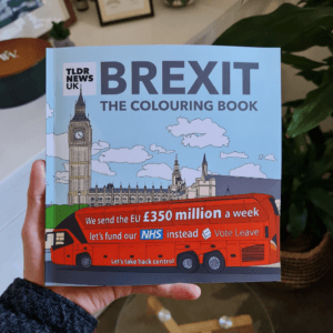 Brexit: The Colouring Book Expanded Edition (Signed), 3 Barnard Postcards & Mystery Pin