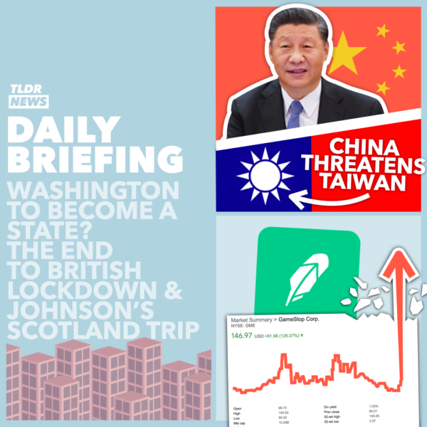 January 29: China Threatening Taiwan, A Stock Market Closure, and a Tunnel Protest