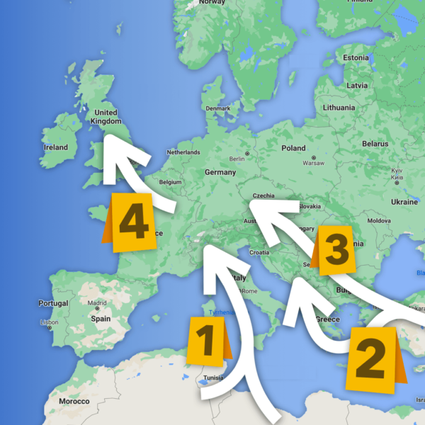 How Do Migrants & Refugees Get to Europe? Four Major Paths Taken to Enter the EU