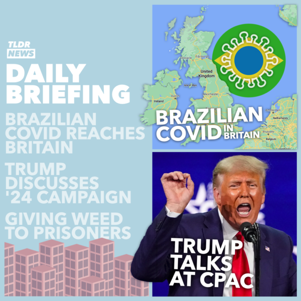 March 01: Brazilian Variant, Trump 2024, and Cannabis for Prisoners