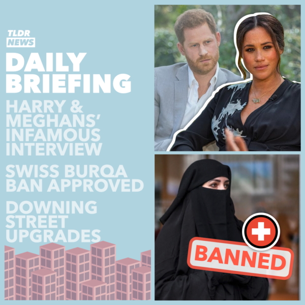 March 08: The Royal Interview, A Downing Street Situation Room, and a Swiss Face-Coverings Ban 3