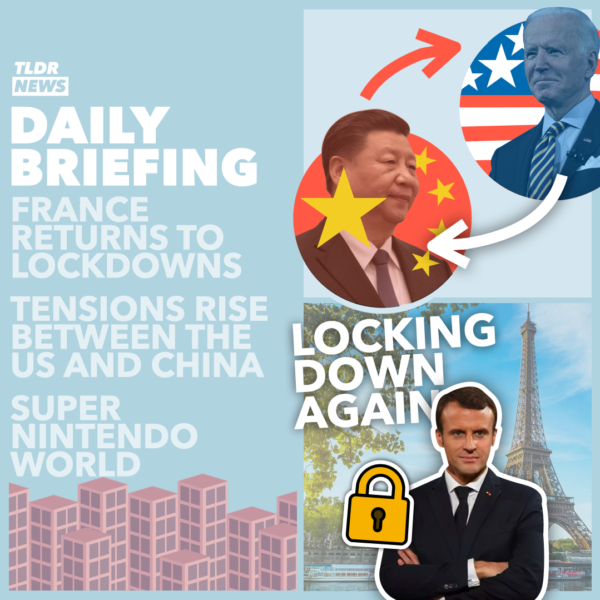 Mar 19: The Parisian Lockdown, A Frosty China-US Exchange, Misinformation News, and Super Nintendo World