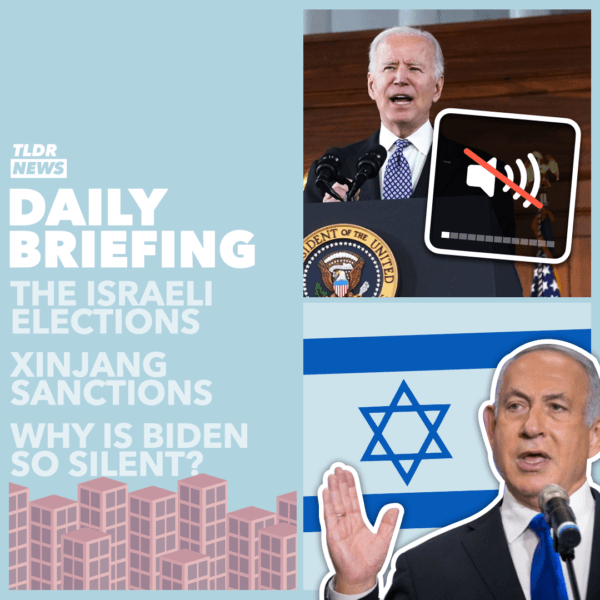 Mar 24: Presidential Change of Pace, The Israel Election, Xinjiang Sanctions, and EU Vaccine Sanctions