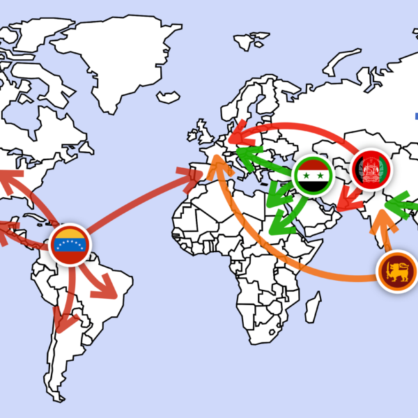 Where Are Refugees Going: Refugee Journeys Mapped